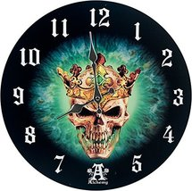 """Prince of Oblivion Wall Clock By Alchemy Gothic Round Plate 13.5""""D - $17.32"""