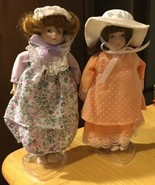 Gorham China Dolls Dotted Swiss/Lavender & Lace - $9.49