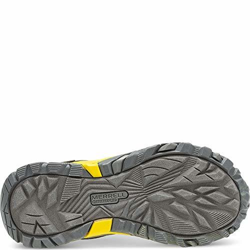 Merrell Boys' Moab FST Low WTRPF Hiking Shoe, Grey/Yellow, 05.5 W US Big Kid image 2