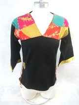PRONTO vintage 1990s Women Sweater sz S folk boho hippy renfair pullover - $19.59