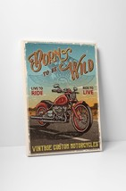 """Born To Be Wild Motorcycle Art Gallery Wrapped Canvas Print. 30""""x20 or 20""""x16"""" - $42.52+"""
