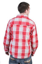 Tavik Mens Red Gray Checker Slacker Lumberjack Flannel Button Down Up Shirt NWT image 3