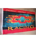 Chevy racing w/flaming Bow Tie on a 3 x 5 ft flag & grommets - $20.00