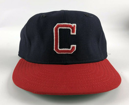 Cleveland Indians New Era Pro Model DuPont Visor 1980s Baseball Hat Blue... - $49.49