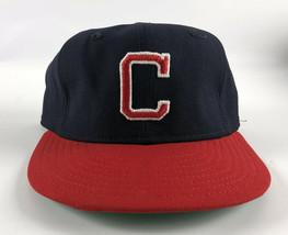 Cleveland Indians New Era Pro Model DuPont Visor 1980s Baseball Hat Blue Size 7 - $49.49