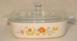 Vintage Corning Ware Wildflower Poppy 1 quart Retired Casserole Dish Lid... - $19.79