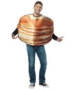 Pancakes Costume Adult Food Breakfast Halloween Party Unique Cheap GC6807 - $44.99