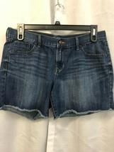 OLd Navy The Flirt Denim Jean Shorts Raw Hem Size 12 - $8.91
