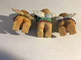 "3 Bear Angels Musical Band Instruments Resin Figurine 4"" image 5"