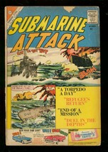 Submarine Attack #24 1960-CHARLTON War COMICS-GLANZMAN G - $25.22