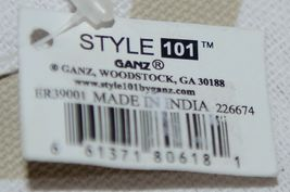 GANZ Style 101 Product Number ER39001 Large Canvas Tote Chevron Cream Tan image 4