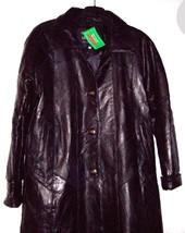 Giovanni Navarre Italian Stone Design Ladies Leather Coat Antiqued Brass... - $77.39