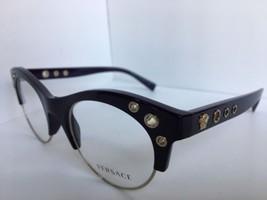 New Versace Mod. 3232 5185 Eggplant 52mm Cats Eye Women's Eyeglasses Italy  - $179.99