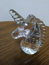 Natural Clear Quartz Crystal Unicorn Hand Carved Horse Head Figurine image 2