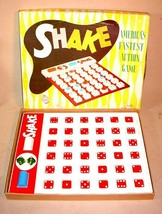 VTG 1960S BINGO STYLE GAME SHAKE BY SCHAPER PLASTIC GAMES MINNEAPOLIS MINN - $21.93