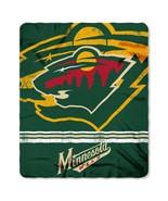 Minnesota Wild Blanket 50x60 Fleece Fade Away Design**Free Shipping** - $24.00