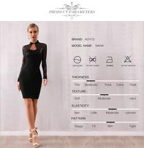 Long Sleeve Sexy Black Sequin Lace Club Party Dress image 7