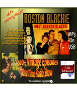 BOSTON BLACKIE OLD TIME RADIO SHOW  200+ EPs  45-USB on DVD+ HRs LISTENING FUN - $12.99