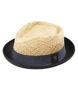 Dasmarca Mens Straw Retro Porkpie Summer Hat - Milo Black M - $76.72