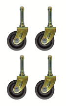 SET OF (4) BED  FRAME LOW CASTER WHEELS WITH SOCKET INSERTS - $8.56