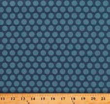 Something Blue Edyta Sitar Polka Dots Delft Cotton Fabric Print By Yard ... - $12.49