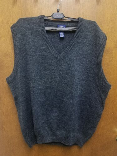 JOHN BLAIR MEN'S  SWEATER VEST CHARCOAL WOOL ACRYLIC NYLON POLYESTER BLEND 2XL