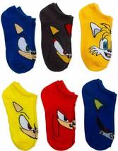 SONIC the HEDGEHOG SEGA Value 6-Pack Low Cut No Show Socks Kids Ages 4-8... - $11.99