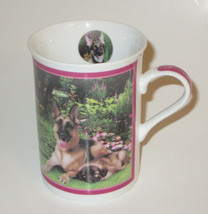 German Shepherd Coffee Cup Mug Porcelain In The Garden Danbury Mint Dogs  - $20.78