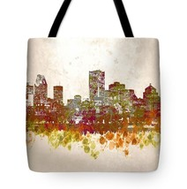 Tote bag All over print Design 46 City Cityscape brown green digital art... - $29.99+