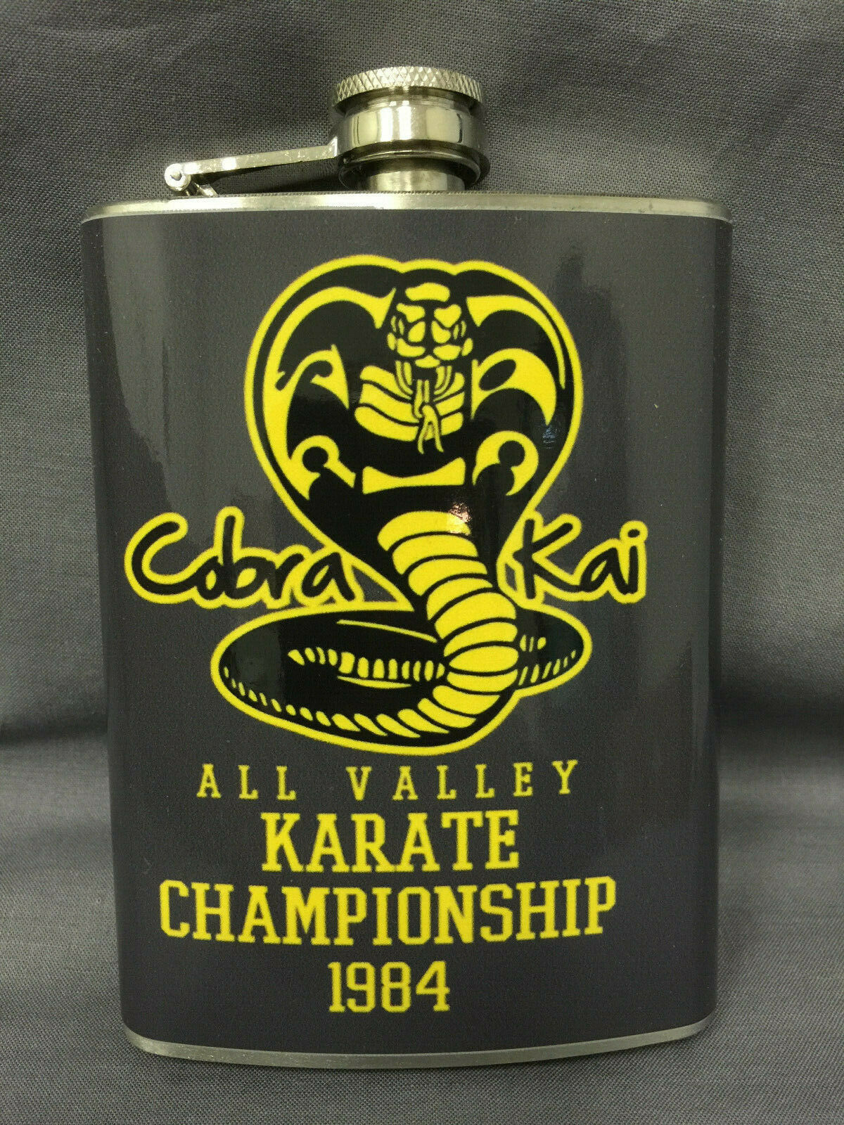Cobra Kai Championship 1984 Flask 8oz Stainless Steel Drinking Clearance item