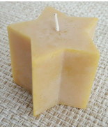 """Beeswax Candle 100% Natural by Sunbeam Candles Star Shape Approx. 3""""x3"""" - $6.75"""