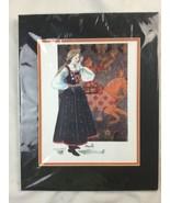 "Sharon Aamodt Norwegian Girl Bunads Print Matted 11"" X 14"" - $23.36"