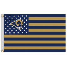 Large Los Angeles Rams Football Flag Banner 3x5 FT with Metal Grommets - £12.81 GBP