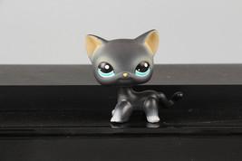LPS Figure #994 Black Short Hair Kitty Cat Blue Eyes - $3.95