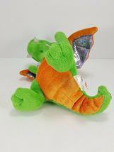 "Aurora World Plush 7"" Green Orange Dragon Legendary Friends Dragon with sound image 4"
