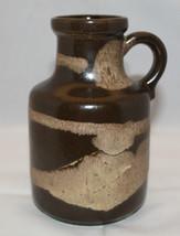 "Vintage Scheurich West Germany Art Pottery Brown Vase Jug 16cm 6.25"" Tal... - $44.70"