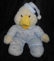 43.2cm Vintage Commonwealth Giallo Duck in Blu Pigiama Peluche Peluche - $43.17