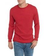 Saddlebred Men's Long Sleeve Crewneck Thermal Baselayer Shirt Red Medium - $14.99