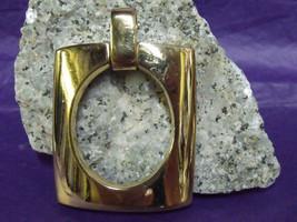 "Elegant 1960'S Crown Trifari Modernist 2 3/8"" Rectangle Necklace Pendant - $17.82"
