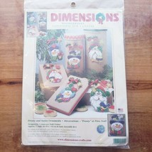 2001 Dimensions Needlepoint 9125 Frosty Santa Ornaments Kit New in Package - $27.00