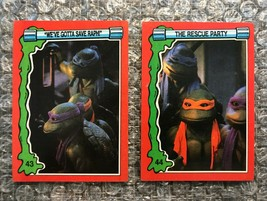 1991 Topps Teenage Mutant Ninja Turtles TMNT II Movie Cards Lot: #43 & #44 - $3.92