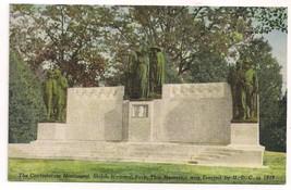 CONFEDERATE MONUMENT SHILOH NATIONAL PARK Linen Curt Teich POSTCARD Civi... - $9.99