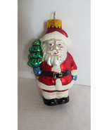 Holidays Christmas Santa Claus Glass Ornament - $6.79