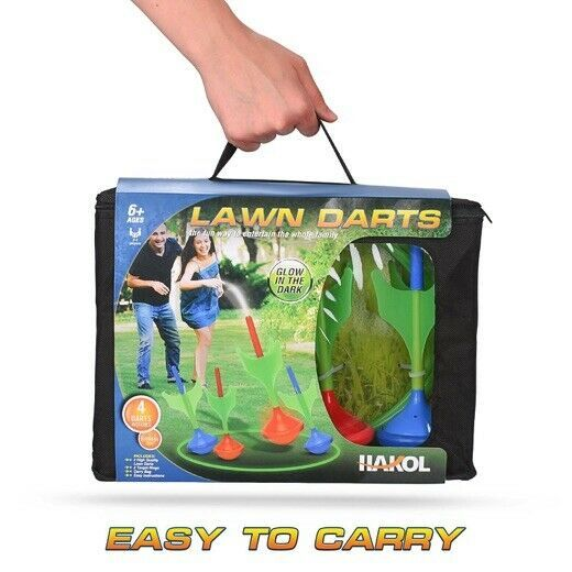 Lawn Darts Game – Glow in The Dark, Outdoor Backyard Toy for Family Fun, Parents image 8