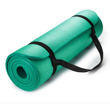 Exercise Mat Thick HD Foam TEAL Yoga Floor Pilates Stretching Gym Workou... - $27.26