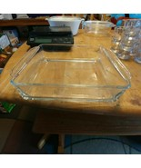 """Vintage Clear Glass Anchor Hocking Fire King Ovenware 8"""" Square Baking Dish - $23.33"""