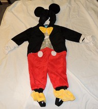 New Disney Baby Mickey Mouse Costume Sizes 6-9 Month Dress Up One Piece - $35.02