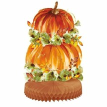 Watercolor Fall Pumpkin Centerpiece Thanksgiving - $6.59