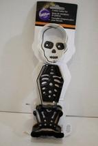 Wilton 3 Piece Cookie Cutter Set Halloween Skeleton New - $3.95