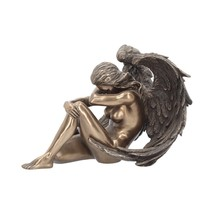 Bronze Naked Nude Female Angel Figurine Sculpture Ornament Statue 16.5cm... - $62.14
